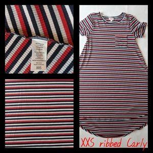 LuLaRoe XXS ribbed Carly dress